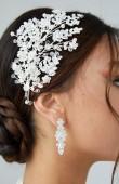 Zirkon Taşlı Saç Aksesuarı Modelleri Tasarım Düğün Kına Nişan Gelin