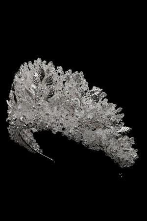 Nijerya Özel Üretim Kristal Boncuklu Yoğun İşcilik