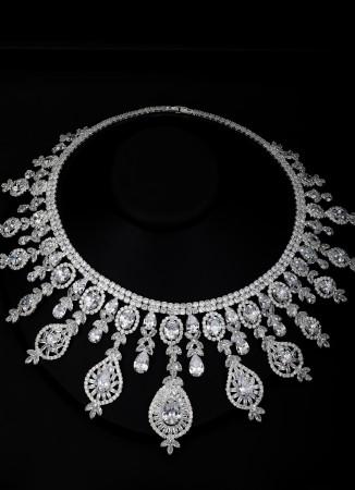 Barbuda Özel Tasarım Zirkon Taşlı Gümüş Kaplama Set