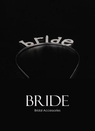 Zikron Taşlı Taç Saç Aksesuarı  Trend Tasarım Düğün Gelin Kına