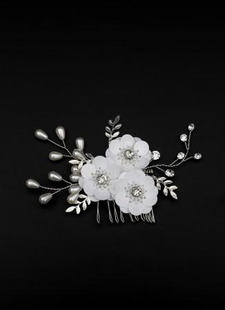 Çiçek Motifli Tarak Toka