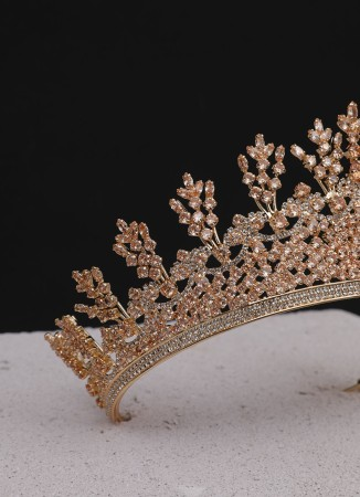 Elsa Bal Rengi Taş Özel Üretim Gold Kaplama