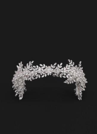 Zirkon Taşlı Saç Aksesuar Modelleri  Saç Bandı Boncuklu Kına Düğün