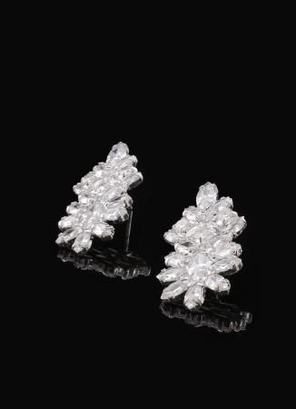Zirkon Taşlı Küpe Nişan Düğün Tasarım Kına Küpe Modelleri  Şık Küpe