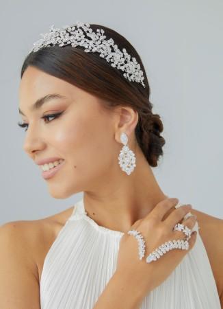 Zirkon Taşlı El Aksesuarı Kaliteli Trend Tasarım Düğün Nişan Kına