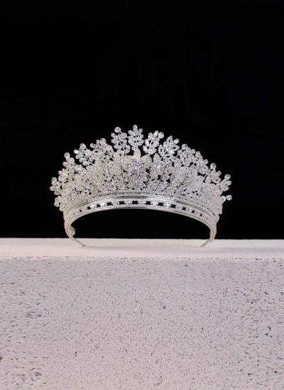 Almira Gelin Tacı Gümüş Kaplamalı Özel Tasarım