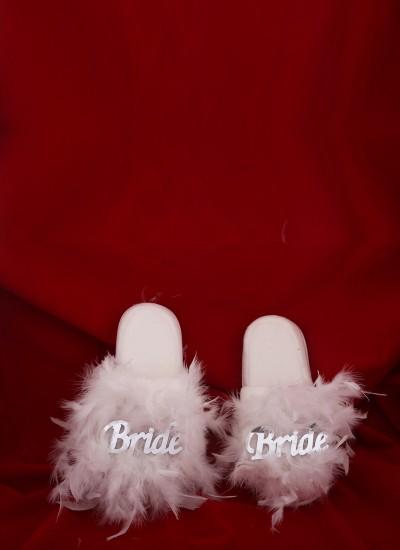 Bride Terlik Beyaz