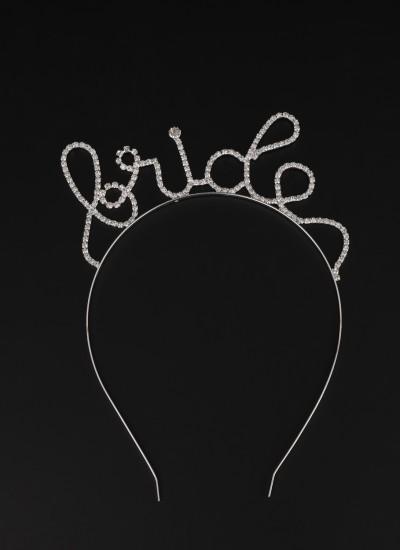Zirkon Taşlı Taç Saç Aksesuarı Trend Tasarım Düğün Gelin Kınası