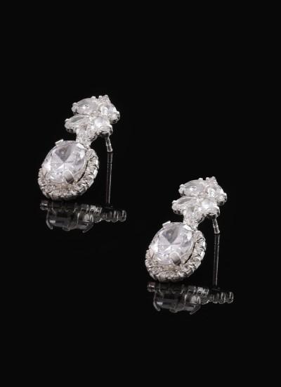 Zirkon Taşlı Küpe Nişan Düğün Tasarım Kına Şık Küpe Modelleri