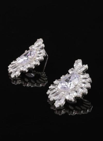 Zircon Stone Earrings Engagement Wedding Design Henna Earring Models Stylish
