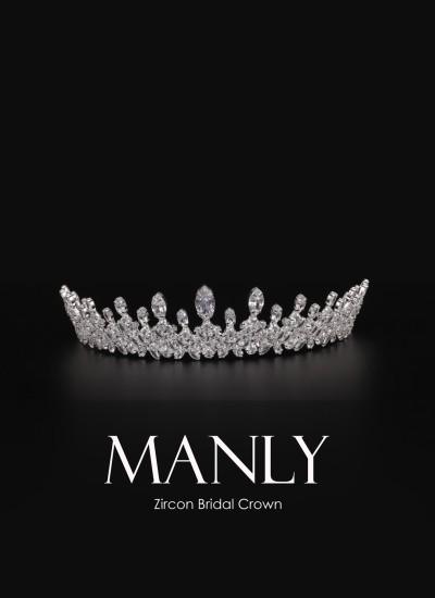 Manlyyd Bridal Crown Fine Workmanship Silver Plated