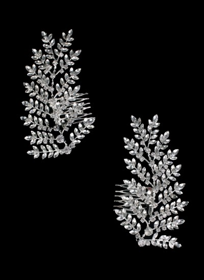 Meral Kristal Tek Taraflı Tarak Saç Aksesuarı
