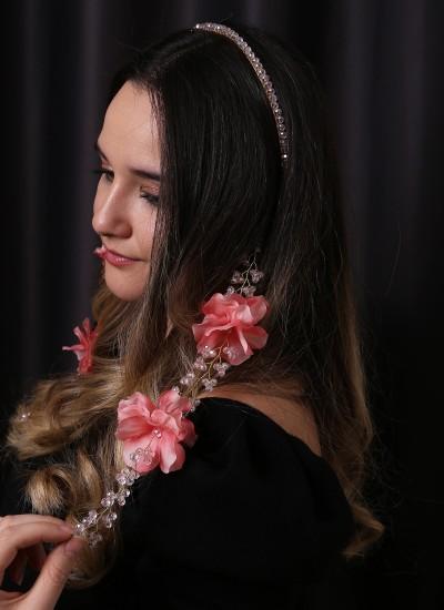 Kristal Taşlı Saç Aksesuarları Modelleri Düğün Kına Nişan Gelin