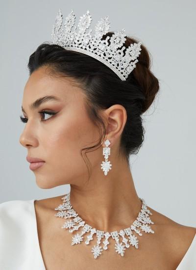 Zircon Set Necklace Wedding Henna Engagement Jewelry Set Models