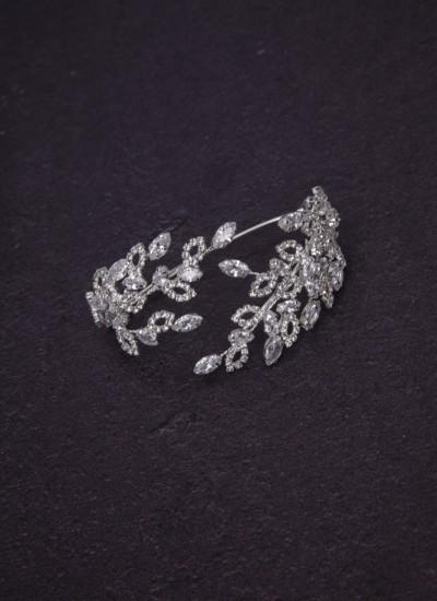 Asya El Şahmeranı Gümüş Kaplama Zirkon Taşlı