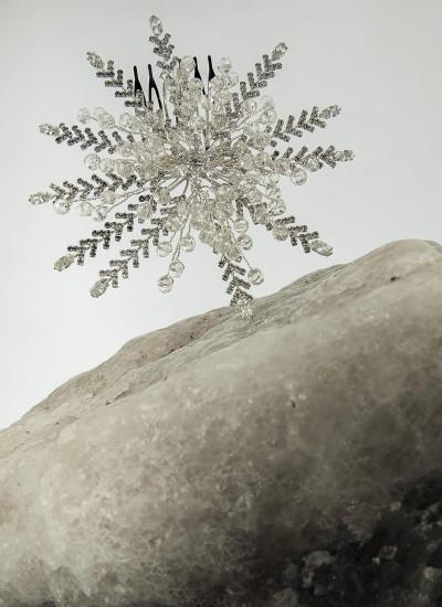 Yıldız Taraklı Saç Aksesuarı Gümüş